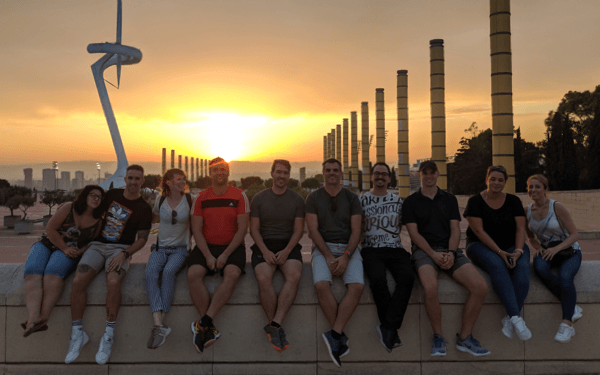 After a bike ride to the Barcelona Olympic Stadium